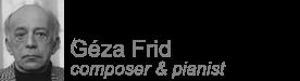 Géza Frid UK site