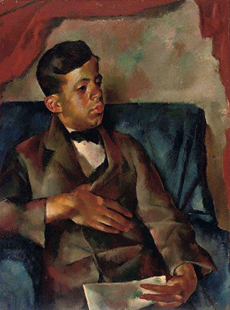 1922 Geza Frid geschilderd door Vilmos Aba Novak