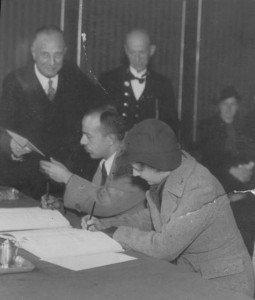 geza frid - ella van hall - huwelijk 13 oktober 1937
