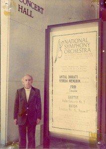 1974: Géza Frid bij de wereldpremière van zijn Toccata in Washington