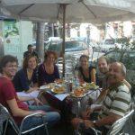 2008-10-Barcelona-Het-Amaryllis-Quartett-op-Frid-tournee_lunch-met-Irah-en-Arthur-Frid