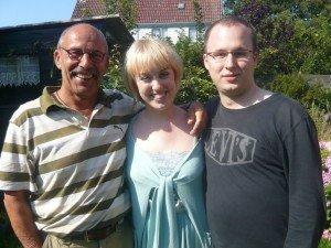 2009 - Birthe Blom en Martin Tchiba thuis bij Arthur Frid, ter voorbereiding van hun Frid-cd 'Budapest-Amsterdam'