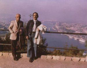 1971 - Géza Frid met zoon Arthur in Boedapest