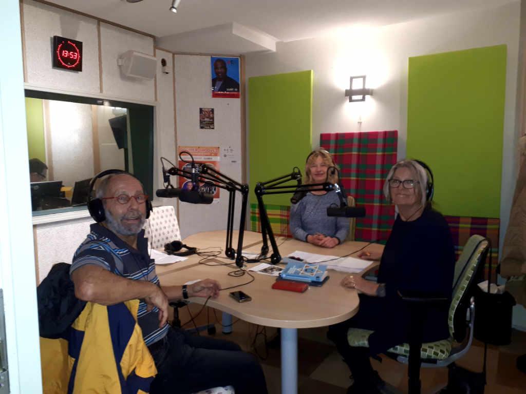 Radio-interview met Eleonore Pameijer (links) en Arthur Frid